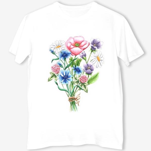 Футболка «Букет полевых цветов»