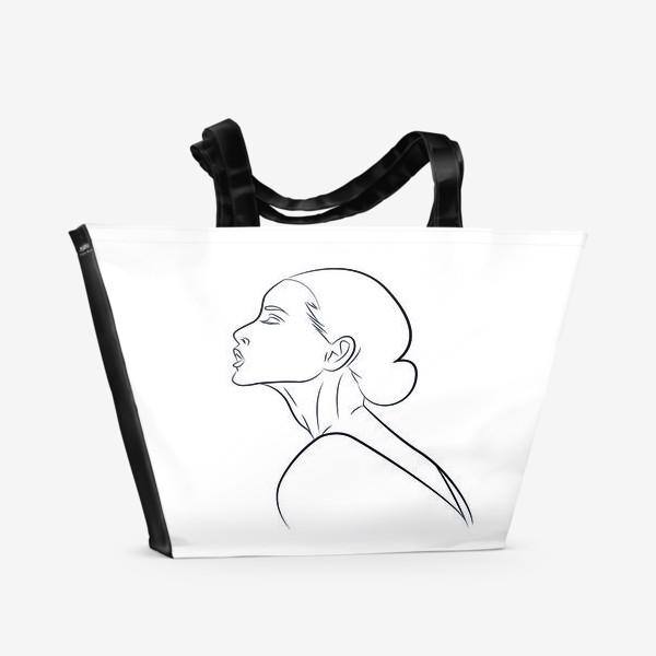 Пляжная сумка «Контур девушки»