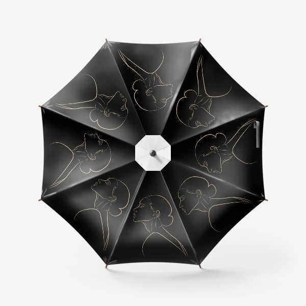 Зонт «Контур девушки»