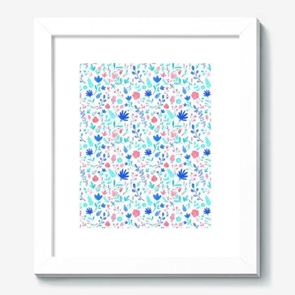 Картина «Акварельные цветы паттерн»