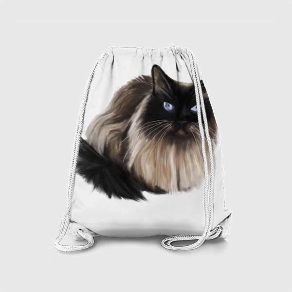 Рюкзак «Невская маскарадная пушистая кошка с голубыми глазами »