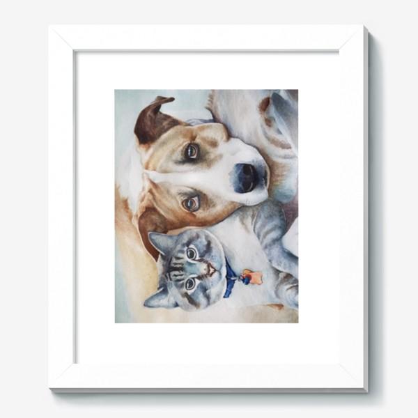 Картина «Кот и собака»