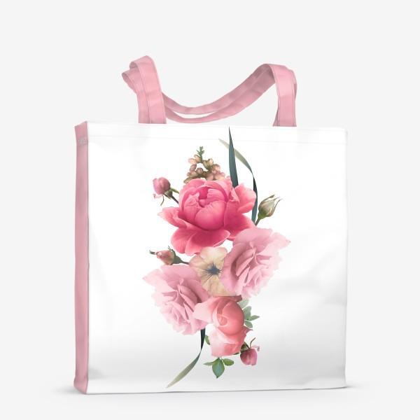 Сумка-шоппер «Розы голд»