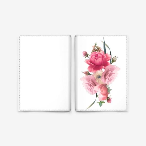 Обложка для паспорта «Розы голд»