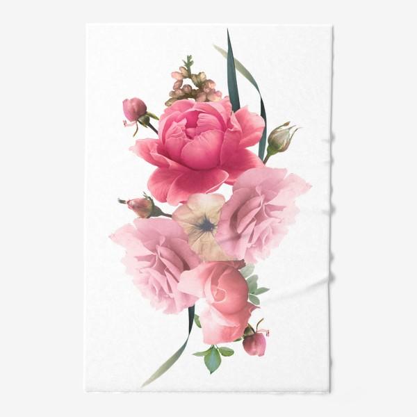 Полотенце «Розы голд»