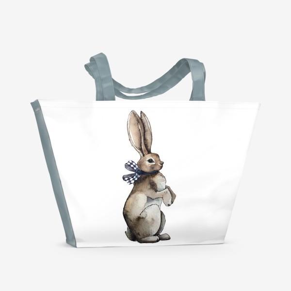 Пляжная сумка «Заяц по имени Кролик»