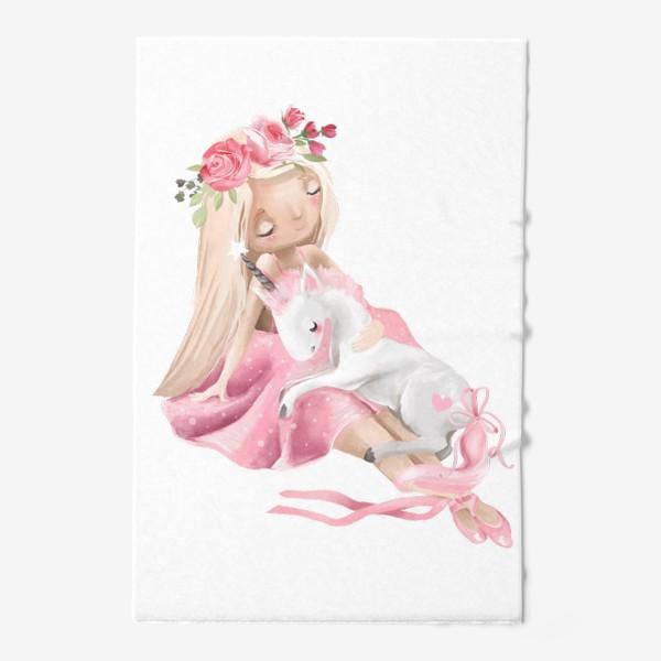 Полотенце «Балерина с единорогом»