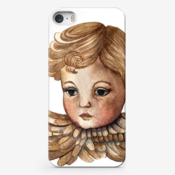 Чехол iPhone «Путти - винтажный золотой ангел»