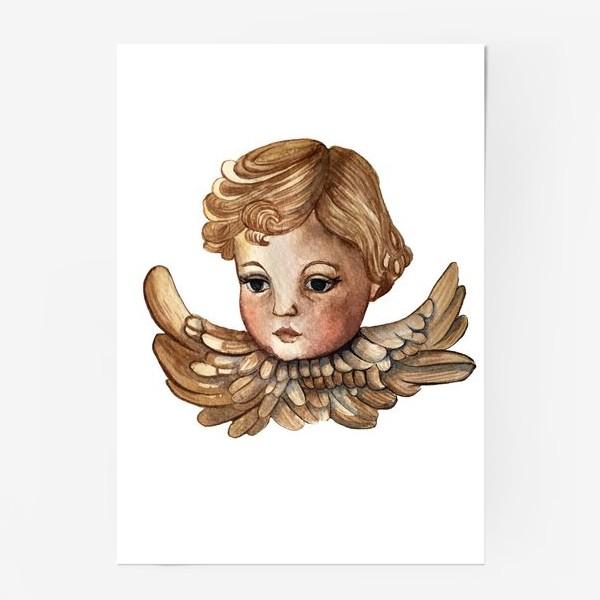 Постер «Путти - винтажный золотой ангел»
