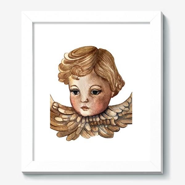 Картина «Путти - винтажный золотой ангел»
