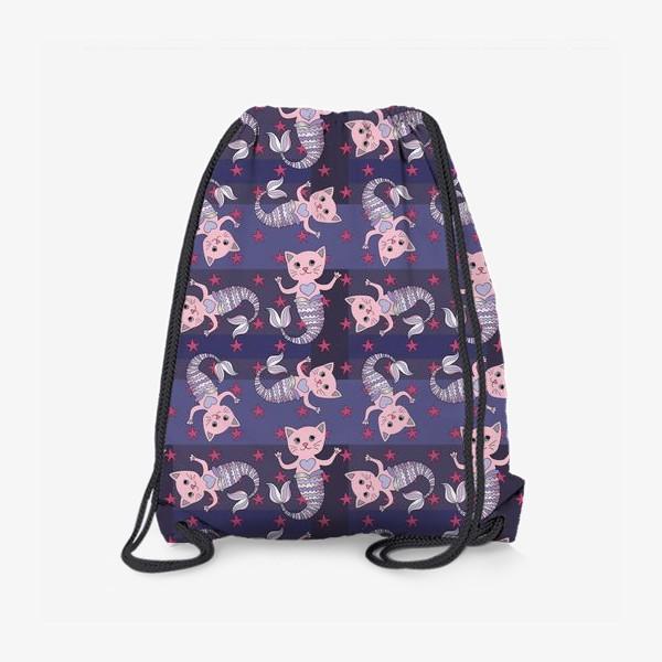 Рюкзак «Коты-русалки»