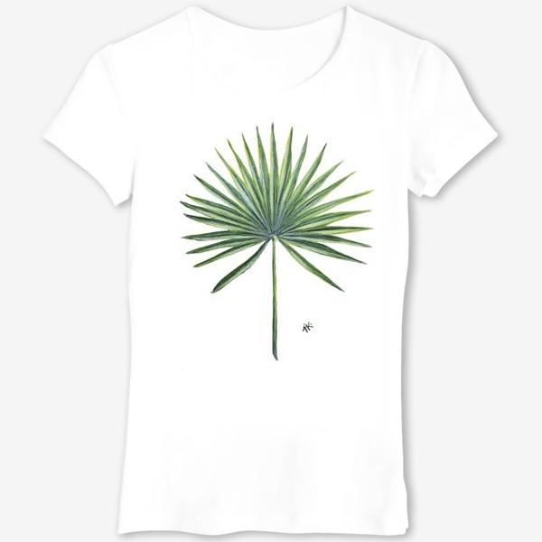 Футболка «Лист веерной пальмы»