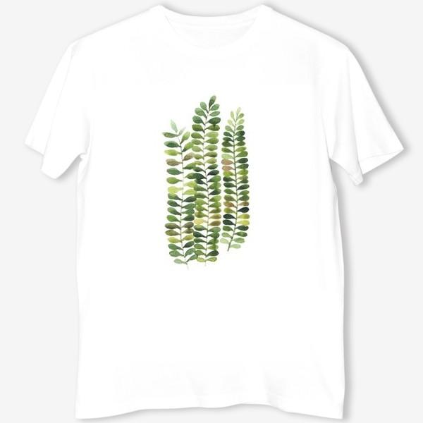 Футболка «тропические листья, растение, тропики, листья»