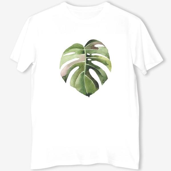 Футболка «тропический лист, растение, тропики, листья, монстера»