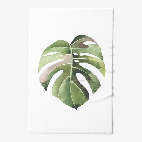 Полотенце «тропический лист, растение, тропики, листья, монстера»