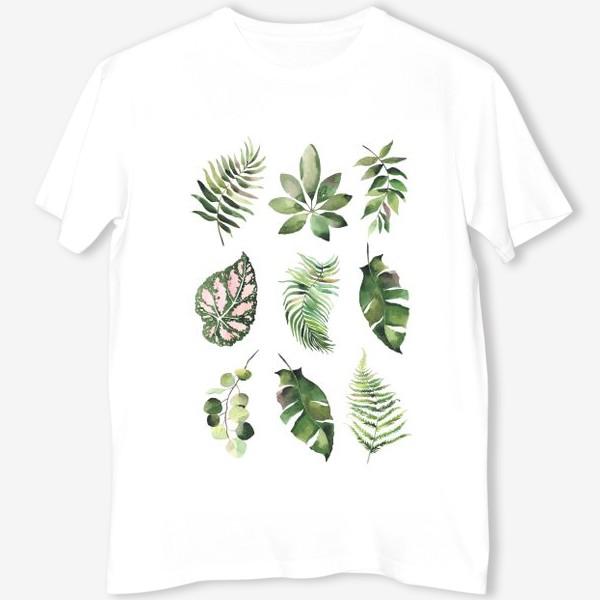 Футболка «тропические листья, растения, тропики, листья»