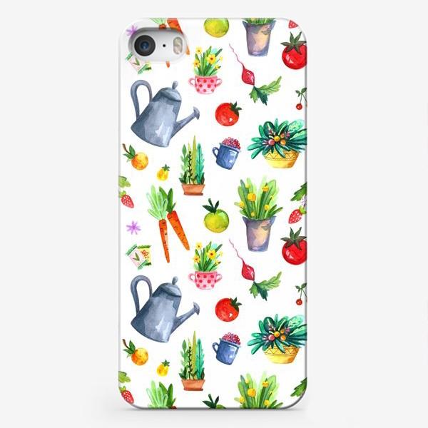 Чехол iPhone «Летний сад. Паттерн»