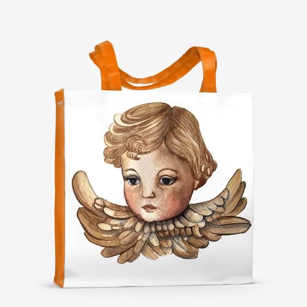 Сумка-шоппер «Путти - винтажный золотой ангел»