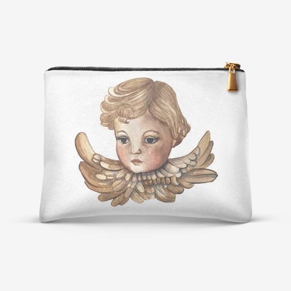 Косметичка «Путти - винтажный золотой ангел»