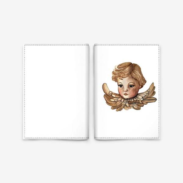 Обложка для паспорта «Путти - винтажный золотой ангел»