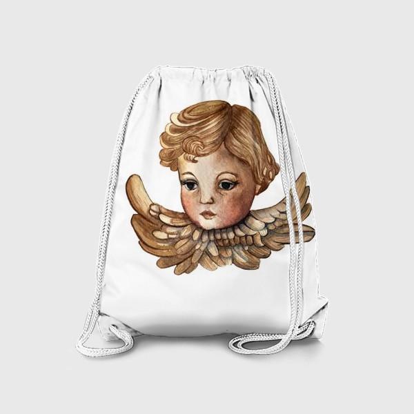 Рюкзак «Путти - винтажный золотой ангел»