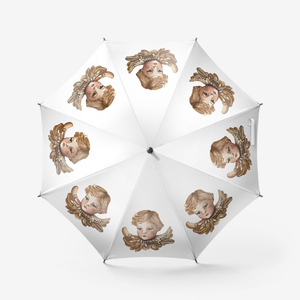 Зонт «Путти - винтажный золотой ангел»