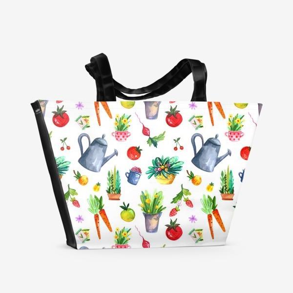 Пляжная сумка «Летний сад. Паттерн»