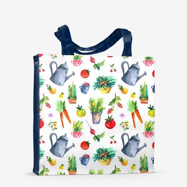 Сумка-шоппер «Летний сад. Паттерн»
