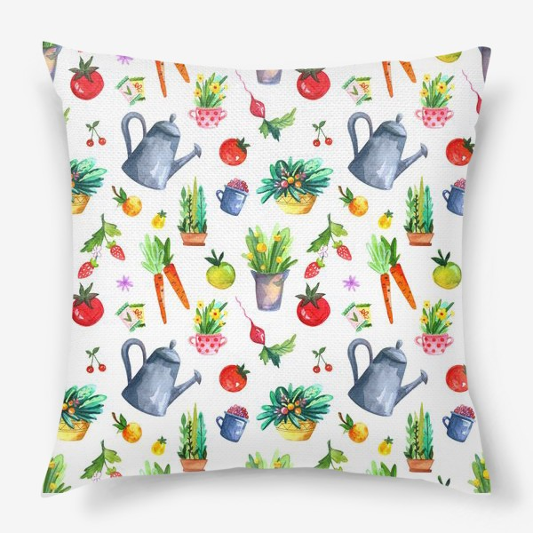 Подушка «Летний сад. Паттерн»