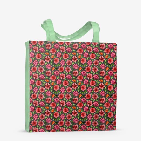 Сумка-шоппер «Красные розы»