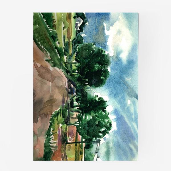 Постер «On the country road...»