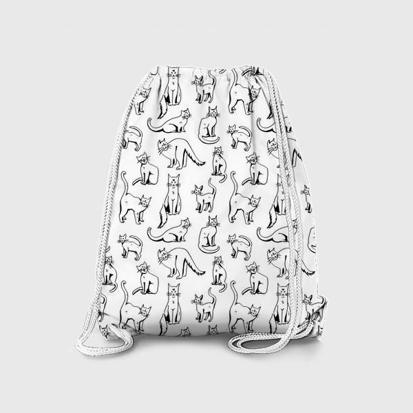 Рюкзак «КОШАЧИЙ ПАТТЕРН»