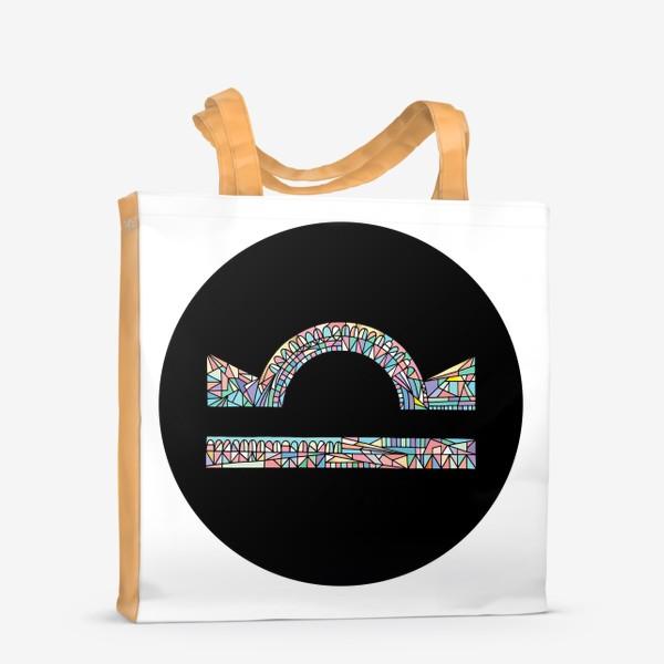 Сумка-шоппер «Весы знак зодиака»