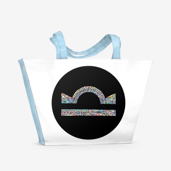 Пляжная сумка «Весы знак зодиака»