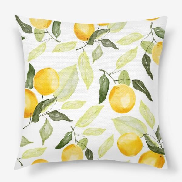 Подушка «Сочный лимон»