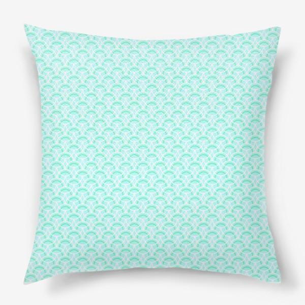 Подушка «Нежный геометрический патерн»
