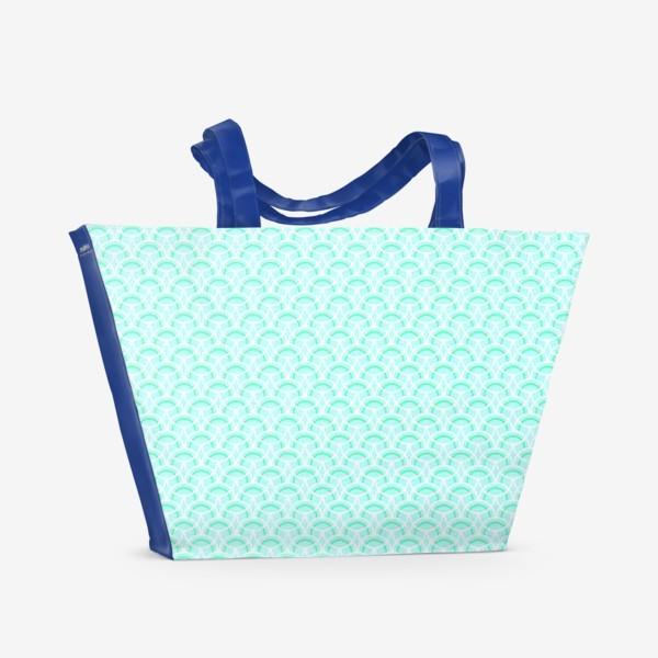 Пляжная сумка «Нежный геометрический патерн»