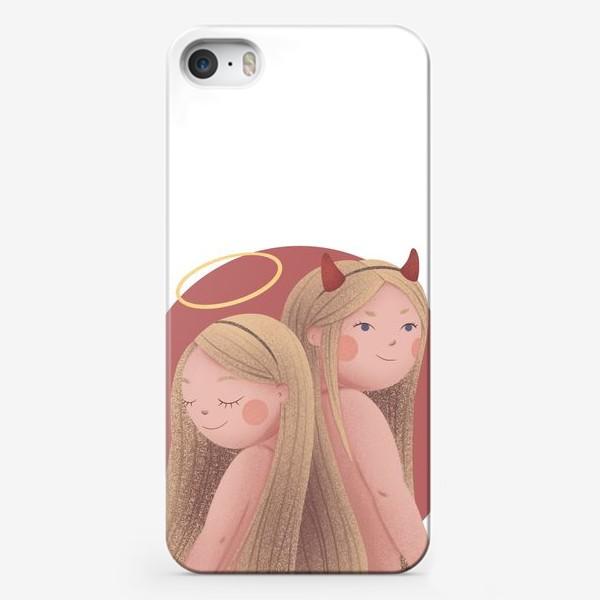 Чехол iPhone «Близнецы, ангел и демон»