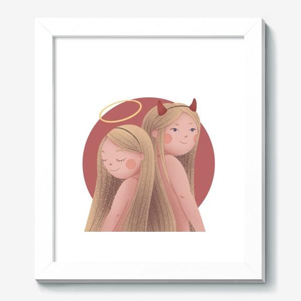Картина «Близнецы, ангел и демон»
