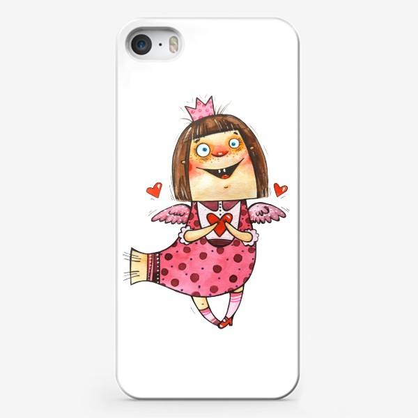 Чехол iPhone «Птичка счастья и любовь»