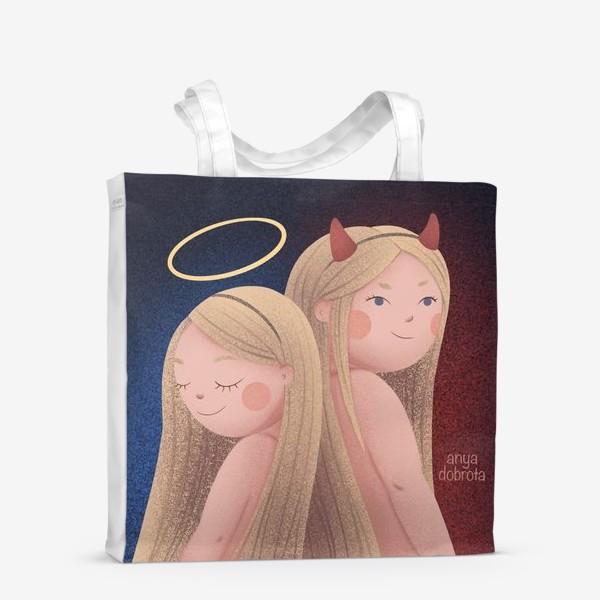 Сумка-шоппер «Ангел и Демон»