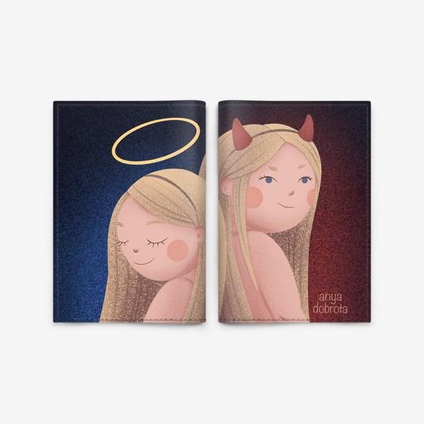 Обложка для паспорта «Ангел и Демон»