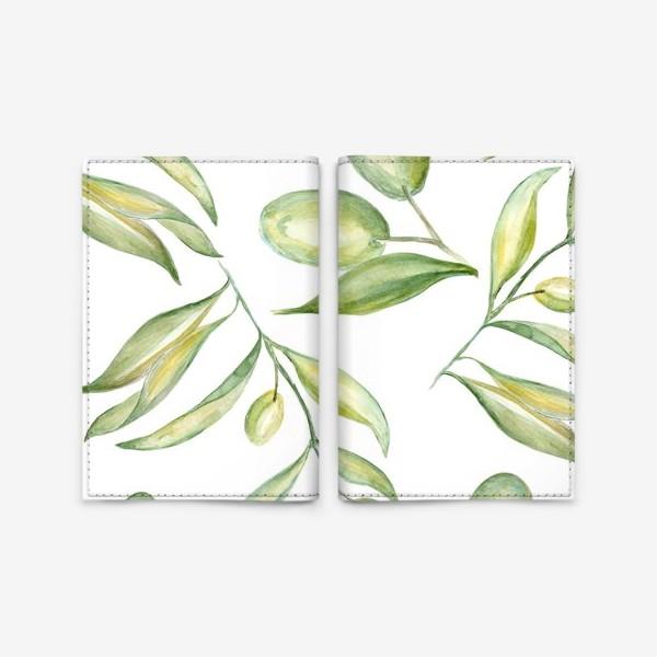 Обложка для паспорта «Оливки»