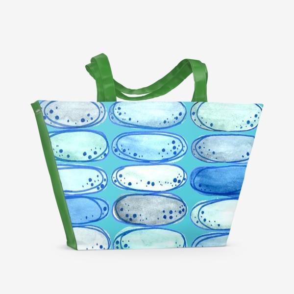 Пляжная сумка «Паттерн Морские камушки»
