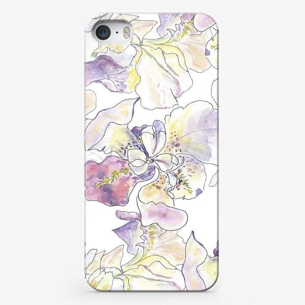 Чехол iPhone «Цветущий ирис. Оттенки фиолетового.»
