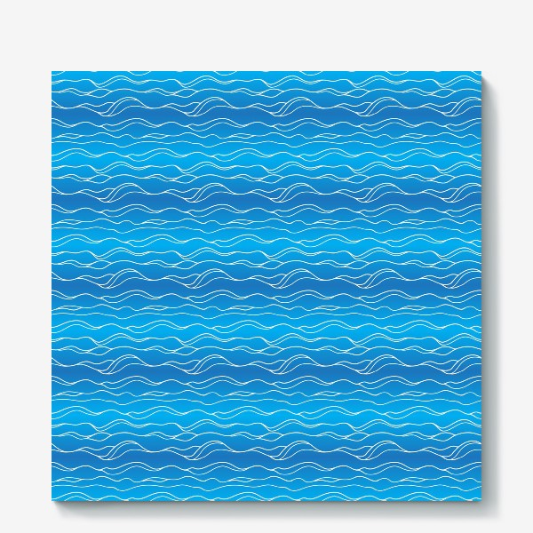 Холст «Сине-белые волны»