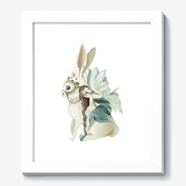 Картина «Фея на зайце»