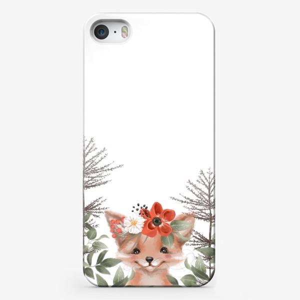 Чехол iPhone «Лисенок в траве»