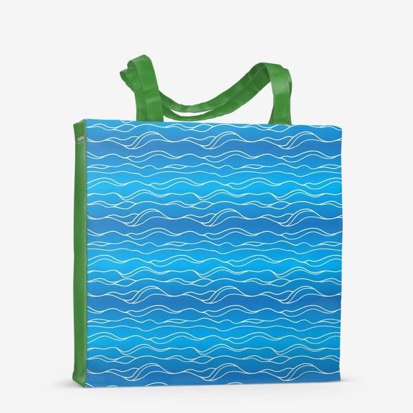 Сумка-шоппер «Сине-белые волны»