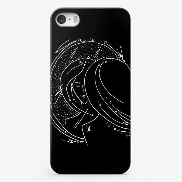 Чехол iPhone «Близнецы зодиак черный»